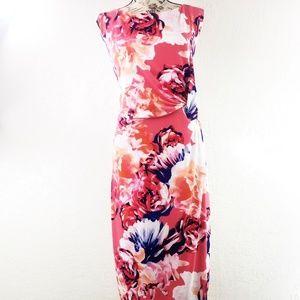 Calvin Klein Pink Floral Knot Waist Dress Size 20W